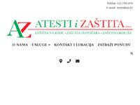 Slika naslovnice sjedišta: Atesti i Zaštita - AiZ (http://www.aiz.hr)