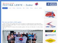 Frontpage screenshot for site: (http://www.mk-festinalente.hr)