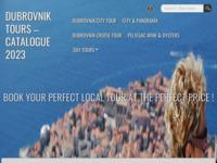Frontpage screenshot for site: Dubrovnik Tours (http://mydubrovnikguide.com)