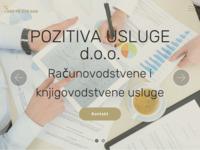 Frontpage screenshot for site: (http://pozitiva-usluge.hr)