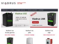 Frontpage screenshot for site: Viadrus - ekskluzivni zastupnik kotlova i radijatora (http://www.viadrus.hr/)