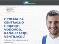 Frontpage screenshot for site: Tehno dom d.o.o. - ekskluzivni zastupnik za Viadrus (http://www.tehno-dom.eu/)