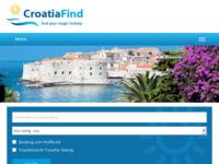 Frontpage screenshot for site: Pronađite svoj čarobni odmor u Hrvatskoj - CroatiaFind.com (http://www.croatiafind.com)