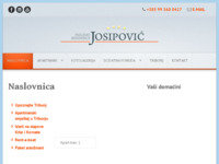 Frontpage screenshot for site: Holiday Residence Josipovic (http://www.holidayresidence-josipovic.hr)