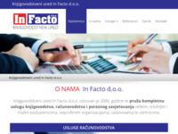 Slika naslovnice sjedišta: In Facto d.o.o (http://www.infacto.hr/)
