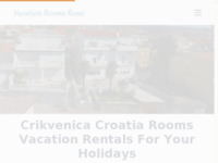 Frontpage screenshot for site: Crikvenica Apartmani i sobe (http://www.crikvenicavacation.com)