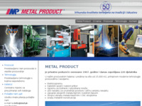 Frontpage screenshot for site: Metal Product (http://metal-product.hr)