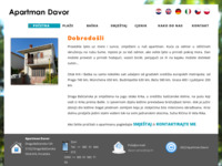Frontpage screenshot for site: Apartmmani Davor, Draga Baška, Krk (http://www.apartments-davor.hr)