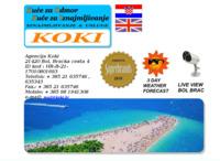 Frontpage screenshot for site: Agencija Koki (http://koki.hr)