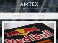 Slika naslovnice sjedišta: Amtex - Izrada amblema i veletrgovina, Zagreb (http://www.amtex.hr)