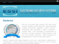 Frontpage screenshot for site: (http://www.essi.hr)