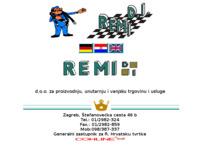 Frontpage screenshot for site: REMI D.I. d.o.o. (http://www.remi-di.hr)