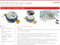 Frontpage screenshot for site: Apator Vodomjeri Split (http://www.vodomjeri-split.com)