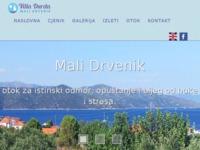 Frontpage screenshot for site: Villa Durda - Drvenik Mali (http://villadurda.com.hr/)