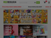 Frontpage screenshot for site: E-revolucija Webshop (http://www.erevolucija.com/)