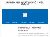 Frontpage screenshot for site: Apartmani Martinović, Veli Lošinj (http://www.martinovic.losinj.hr)
