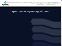 Frontpage screenshot for site: Apartman Singer - Zagreb, Hrvatska (http://apartman-singer-zagreb.com/hr/)