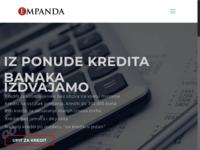 Slika naslovnice sjedišta: Empanda.hr - Agencija za kreditno posredovanje (http://www.empanda.hr)