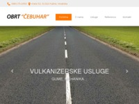 Slika naslovnice sjedišta: Obrt za vulkanizerstvo, prijevoz i trgovinu Cebuhar (http://www.vulkanizer-cebuhar.hr)