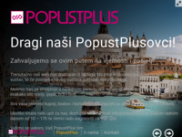 Frontpage screenshot for site: PopustPlus (http://www.popustplus.hr)