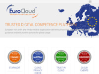 Frontpage screenshot for site: EuroCloud Hrvatska (http://www.eurocloud.hr)