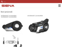 Frontpage screenshot for site: Sena Hrvatska - Bluetooth slušalice za motoriste (http://www.sena.com.hr)