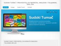 Frontpage screenshot for site: Sudski Tumač Split (http://www.sudski-tumac-split.com/)