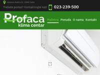 Frontpage screenshot for site: Klima centar Profaca d.o.o. (http://www.klimacentar-profaca.com)