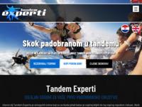 Frontpage screenshot for site: Tandem Skok Padobranom (http://www.tandem-experti.com)