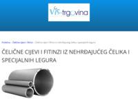 Slika naslovnice sjedišta: Vis trgovina - Bešavne čelične cijevi i fitinzi (http://www.vis-trgovina.hr/cijevi-i-cijevni-fitinzi/celicne-cijevi-i-fitinzi-iz-nehrdajuceg-celika-i)