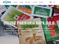 Slika naslovnice sjedišta: Uslužno pakiranje - pakiramo prah, komadno, zrnato - Kapa d.o.o. (http://www.kapa.hr)