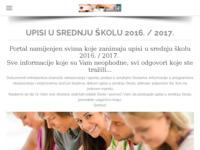 Slika naslovnice sjedišta: Upisi u srednje škole (http://upisi.weebly.com)