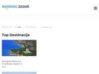 Slika naslovnice sjedišta: Apartmani i smještaj u Zadru i okolici - BookingZadar.com (http://www.bookingzadar.com)