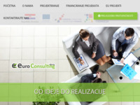 Frontpage screenshot for site: Euro Consulting - Od ideje do poslovnog uspjeha (http://euro-consulting.hr/)