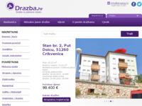 Frontpage screenshot for site: Drazba.hr - Javne dražbe iz Hrvatske i inozemstva (http://www.drazba.hr)