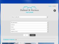 Frontpage screenshot for site: Agencija za nekretnine Dalmat & Hormus (http://www.dalhome.com/hr/)