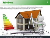 Frontpage screenshot for site: StiroDom Hrvatska - Tehnologija energetski učinkovite gradnje (http://stirodom.com)