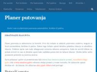 Frontpage screenshot for site: Planer putovanja - Karte i rute za planiranje putovanja (http://www.planerputovanja.com)