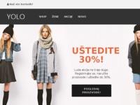 Slika naslovnice sjedišta: Online trgovina odjeće i obuće, Hrvatski Online Shopping (http://www.yolo.hr)
