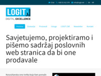 Frontpage screenshot for site: Logit - konzultantska tvrtka za digitalni marketing (http://www.logit.hr)