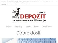 Slika naslovnice sjedišta: Depozit - Računovodstvo, knjigovodstvo, financije (http://www.depozit.hr/)