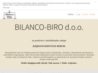 Frontpage screenshot for site: Bilanco-Biro knjigovodstvo (http://www.bilanco-biro.hr/)