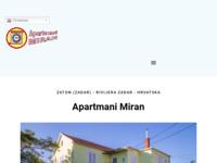 Slika naslovnice sjedišta: Apartmani  Miran - Zaton, Zadar (http://www.apartmani-miran-zaton.com/)