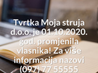 Frontpage screenshot for site: Moja struja, partner Iskon Internet-a (http://www.mojastruja.hr)