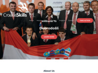 Frontpage screenshot for site: CroatiaSkills - Small country of great skills (http://croatiaskills.hr)