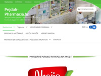 Frontpage screenshot for site: Pejdah pharmacia (http://pejdah-pharmacia.hr)