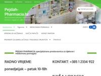 Slika naslovnice sjedišta: Pejdah pharmacia (http://pejdah-pharmacia.hr)