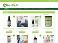 Frontpage screenshot for site: Trgovina Dobre Vijesti (http://dobre-vijesti.hr)