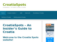Frontpage screenshot for site: Croatia spots - articles, TripAdviser reviews, photos, video clips (http://croatiaspots.com)