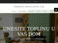 Frontpage screenshot for site: Warmth Application Lab - Električno podno grijanje (http://wal.hr)
